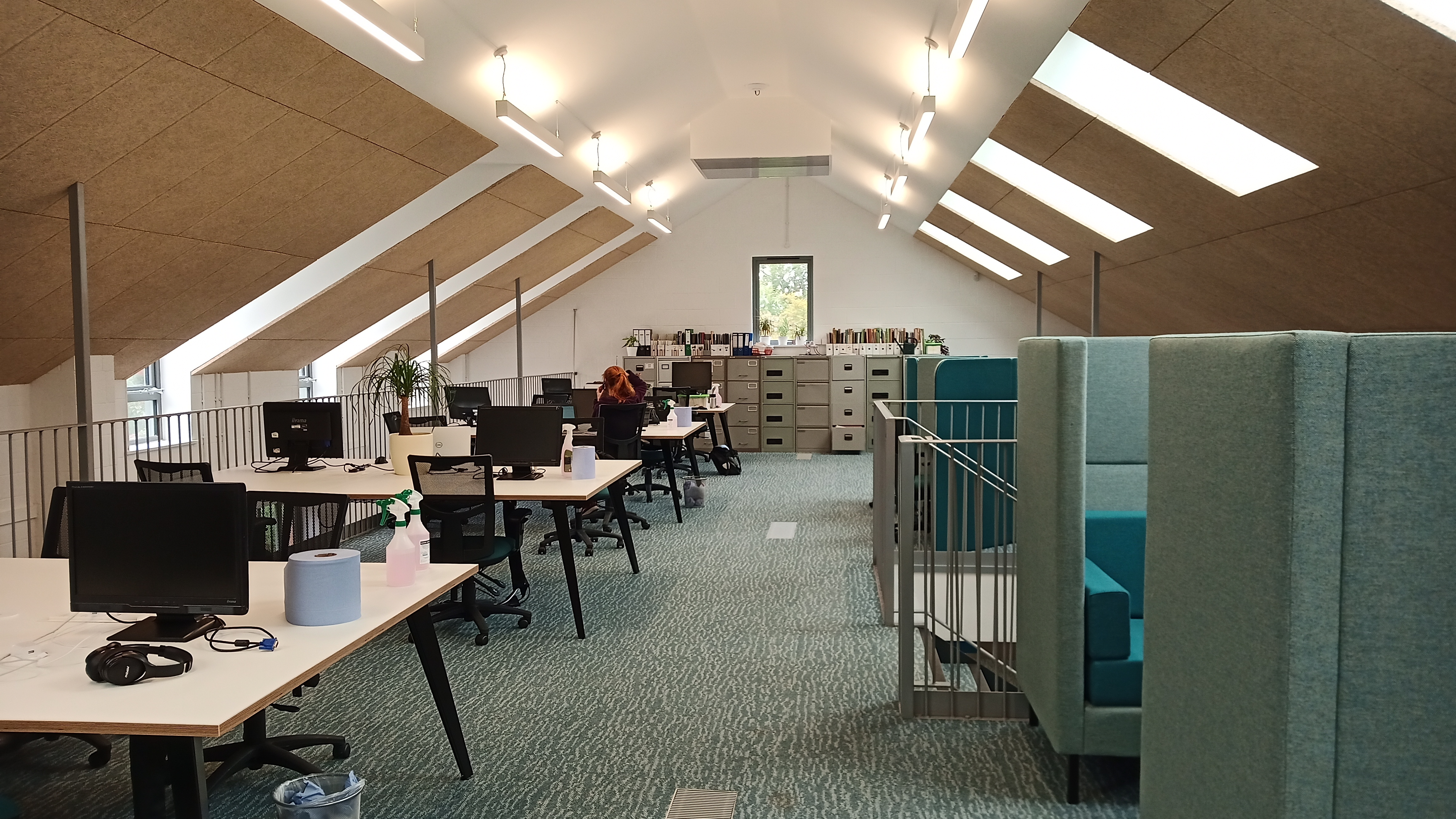 Newly refurbished mezzanine office at Robinswood Hill Country Park