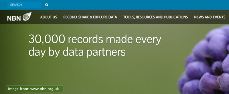 clip from the NBN main website, quoting 30 000  records made every day by data partners