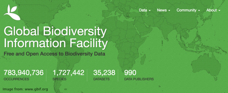 logo image from the Global Biodiversity Information Facility website