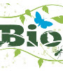 Bioblitz logo - with trailing vegetation & butterflies around it